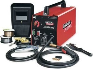 Lincoln Electric Mig Welder Welding Machine 115v 88 Amp Wire feed Hand Shield