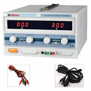 Dr meter Hy3010e Variable Dc Regulated Power Supply 0to 30v 10a Lab Grade Precis