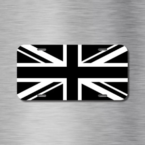Union Jack United Kingdom Uk Bw Flag England Vehicle License Plate Auto Car New