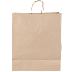 Duro Traveler 13 X 6 X 15 3 4 Brown Shopping Bag With Handles 250 pack
