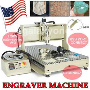 2200w 4 Axis Engraver Cnc 6090 Router Usb Engraving Milling Machine 3d Cutting