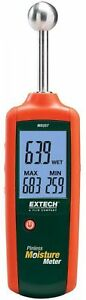 Extech Instruments Moisture Meter Pinless Non invasive Backlit Lcd Display