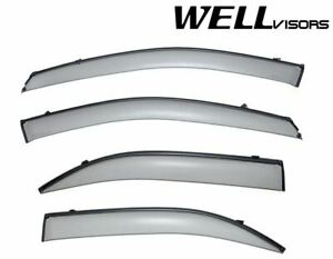 Wellvisors Side Window Deflectors Visors W Black Trim For Kia Sorento 2003 2009