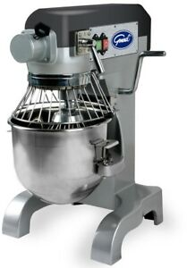 Stainless Stand Mixer With Beater Dough Hook And Whip 10 Qt Commercial Grade