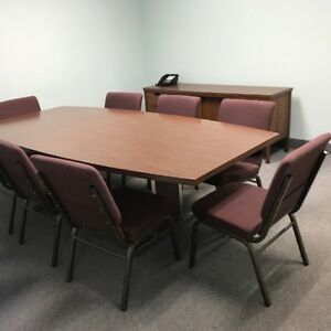 Conference Table Credenza And 8 Chairs All Inclusive