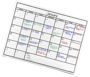 Officeaid Laminated Jumbo Dry Erase Wall Calendar 36 inch By 48 inch