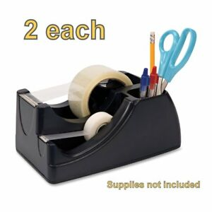 Officemate Recycled 2 in 1 Heavy Duty Tape Dispenser Black 96690 2 2 In