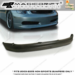 For 03 05 Infiniti G35 2dr Coupe Gialla Gl Style Vip Front Bumper Lip Body Kit