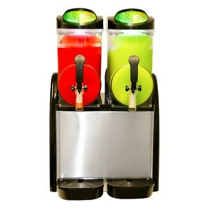 New Dual Bowl Margarita Slush Frozen Drink Machine Donper Xch 224