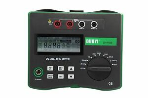 Power Cable Low Ohm Test Dy4106 Micro Ohm Meter With Temperature Compensation