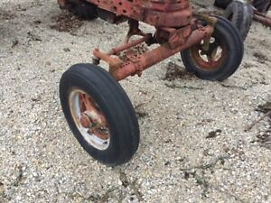 Farmall H Super H Ih Tractor Wide Front End Widefront Hubs Rims Tires