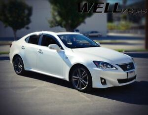 Wellvisors For 06 13 Lexus Is250 Is350 Is f Chrome Trim Side Vents Window Visors