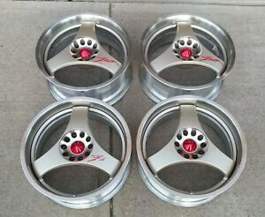 Rare Jdm Trial Try Force Zelda Wheels 5x114 3 Is300 S14 Gtr 240sx Nissan