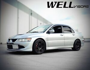 Wellvisors For 02 06 Mitsubishi Lancer Evo Viii Ix Side Window Visors Rain Guard