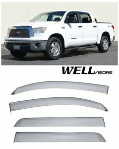 Wellvisors Side Window Visors Premium Series For 07 Up Toyota Tundra Crew Max