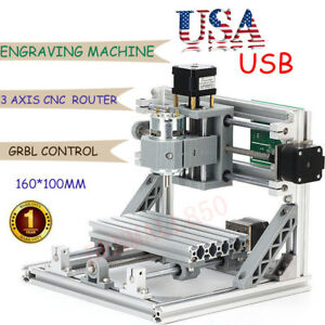 Cnc 1610 Pcb Milling 3 axis Cnc Router Kit Mini Wood Carving Machine 500mw Laser