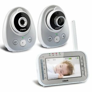 Vtech Vm342 2 Video Baby Monitor With 170 degree Wide angle Lens For Panoramic