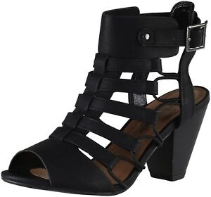 City Classified Women s Casual Styl Awesome Gladiator Strappy Chunky Block Heel