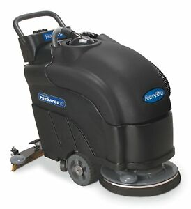 Powr flite Pas17ba bc Predator Battery Powered Automatic Scrubber With Pad New