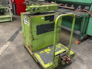 2000 Lb Clark Stand Up Electric Tow Tug Tugger Cart Warehouse Material Handling