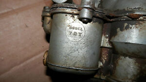 Ford Holley Carburetor Model 2bbl W manual Choke Model 7 R T