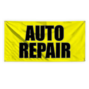 Auto Repair 1 Outdoor Advertising Printing Vinyl Banner Sign With Grommets