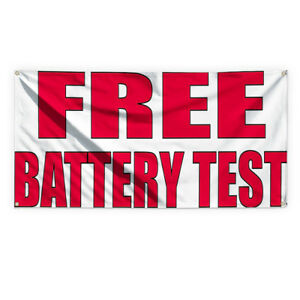 Free Battery Test 2 Advertising Printing Vinyl Banner Sign With Grommets