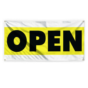 Open 2 Outdoor Advertising Printing Vinyl Banner Sign With Grommets