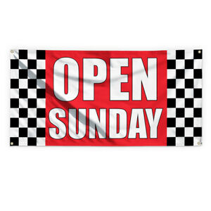 Open Sunday 1 Outdoor Advertising Printing Vinyl Banner Sign With Grommets