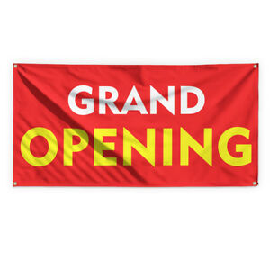 Grand Opening 2 Outdoor Advertising Printing Vinyl Banner Sign With Grommets