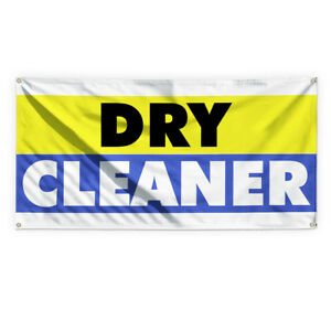 Dry Cleaner 1 Outdoor Advertising Printing Vinyl Banner Sign With Grommets