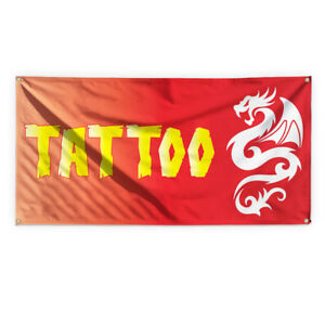 Tattoo 1 Outdoor Advertising Printing Vinyl Banner Sign With Grommets