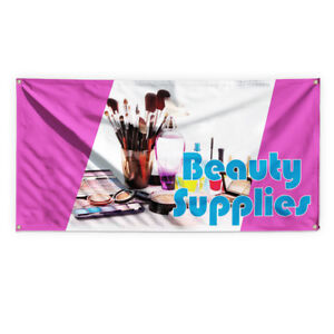 Beauty Supplies 1 Advertising Printing Vinyl Banner Sign With Grommets