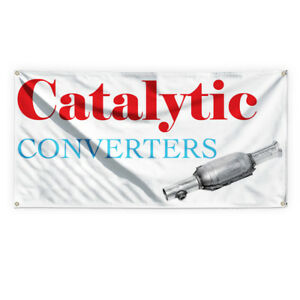 Catalytic Converters 1 Advertising Printing Vinyl Banner Sign With Grommets