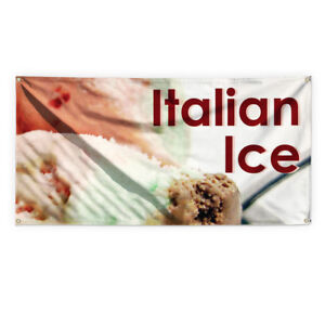 Italian Ice 1 Outdoor Advertising Printing Vinyl Banner Sign With Grommets