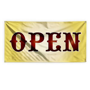 Open 1 Outdoor Advertising Printing Vinyl Banner Sign With Grommets
