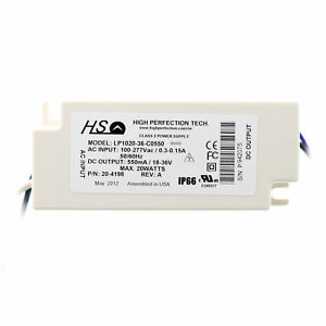 High Perfection Lp1020 36 c0550 Led Driver 120 277v To 550ma 18 36vdc 20w
