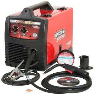 Lincoln Electric Welder Machine 115v 125 Amp Flux cored Wire Portable Gas less