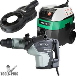 Hitachi Dh45me 1 3 4 2mode Sdsmax Rotary Hammer W hepa Vac dust Collection New