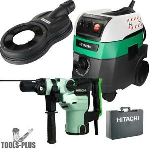 Hitachi Dh38ye2 1 1 2 Spline Shank Rotary Hammer W hepa Vac dust Collection New