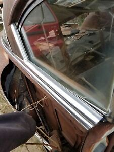 1953 Chevrolet Belair 2dr Hardtop Passenger Rear Quarter Window Chrome Trim