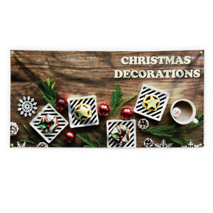 Christmas Decorations 1 Advertising Printing Vinyl Banner Sign With Grommets