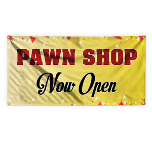 Pawn Shop Now Open 2 Advertising Printing Vinyl Banner Sign With Grommets