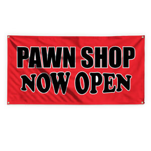 Pawn Shop Now Open 3 Advertising Printing Vinyl Banner Sign With Grommets
