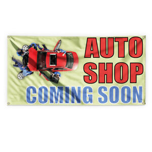 Auto Shop Coming Soon Advertising Printing Vinyl Banner Sign With Grommets
