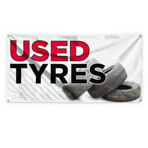 Used Tyres Outdoor Advertising Printing Vinyl Banner Sign With Grommets