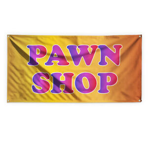 Pawn Shop Now Open 4 Advertising Printing Vinyl Banner Sign With Grommets