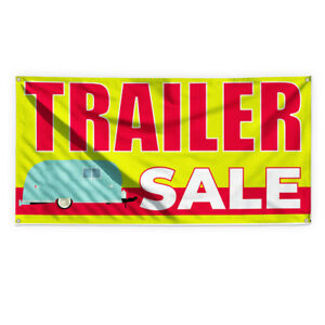 Trailer Sale Outdoor Advertising Printing Vinyl Banner Sign With Grommets