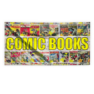 Comic Books Outdoor Advertising Printing Vinyl Banner Sign With Grommets