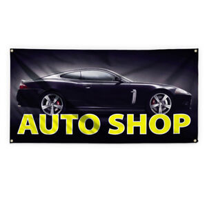 Auto Shop 2 Outdoor Advertising Printing Vinyl Banner Sign With Grommets